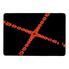 Red Fractal Cross Digital Computer Graphic Samsung Galaxy Tab Pro 10 1  Flip Case by Simbadda