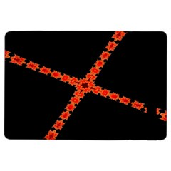 Red Fractal Cross Digital Computer Graphic Ipad Air 2 Flip by Simbadda