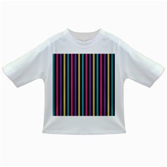 Stripes Colorful Multi Colored Bright Stripes Wallpaper Background Pattern Infant/toddler T Shirts by Simbadda