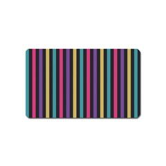 Stripes Colorful Multi Colored Bright Stripes Wallpaper Background Pattern Magnet (name Card) by Simbadda