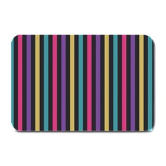 Stripes Colorful Multi Colored Bright Stripes Wallpaper Background Pattern Plate Mats by Simbadda
