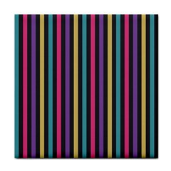 Stripes Colorful Multi Colored Bright Stripes Wallpaper Background Pattern Face Towel by Simbadda