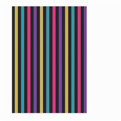 Stripes Colorful Multi Colored Bright Stripes Wallpaper Background Pattern Large Garden Flag (two Sides) by Simbadda