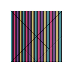 Stripes Colorful Multi Colored Bright Stripes Wallpaper Background Pattern Acrylic Tangram Puzzle (4  X 4 ) by Simbadda