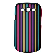 Stripes Colorful Multi Colored Bright Stripes Wallpaper Background Pattern Samsung Galaxy S Iii Classic Hardshell Case (pc+silicone)