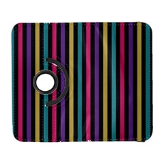 Stripes Colorful Multi Colored Bright Stripes Wallpaper Background Pattern Galaxy S3 (flip/folio) by Simbadda