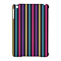 Stripes Colorful Multi Colored Bright Stripes Wallpaper Background Pattern Apple Ipad Mini Hardshell Case (compatible With Smart Cover)