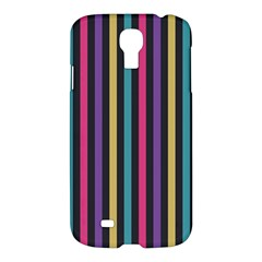 Stripes Colorful Multi Colored Bright Stripes Wallpaper Background Pattern Samsung Galaxy S4 I9500/i9505 Hardshell Case by Simbadda