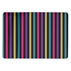 Stripes Colorful Multi Colored Bright Stripes Wallpaper Background Pattern Samsung Galaxy Tab 10 1  P7500 Flip Case