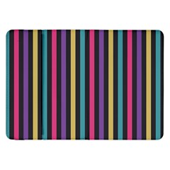 Stripes Colorful Multi Colored Bright Stripes Wallpaper Background Pattern Samsung Galaxy Tab 8 9  P7300 Flip Case by Simbadda