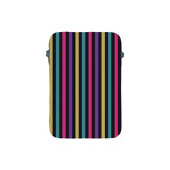 Stripes Colorful Multi Colored Bright Stripes Wallpaper Background Pattern Apple Ipad Mini Protective Soft Cases by Simbadda