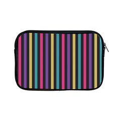 Stripes Colorful Multi Colored Bright Stripes Wallpaper Background Pattern Apple Ipad Mini Zipper Cases by Simbadda
