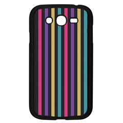 Stripes Colorful Multi Colored Bright Stripes Wallpaper Background Pattern Samsung Galaxy Grand Duos I9082 Case (black)