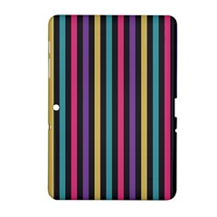 Stripes Colorful Multi Colored Bright Stripes Wallpaper Background Pattern Samsung Galaxy Tab 2 (10 1 ) P5100 Hardshell Case