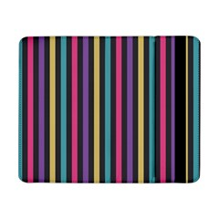 Stripes Colorful Multi Colored Bright Stripes Wallpaper Background Pattern Samsung Galaxy Tab Pro 8 4  Flip Case by Simbadda