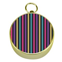 Stripes Colorful Multi Colored Bright Stripes Wallpaper Background Pattern Gold Compasses by Simbadda