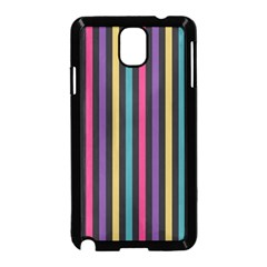 Stripes Colorful Multi Colored Bright Stripes Wallpaper Background Pattern Samsung Galaxy Note 3 Neo Hardshell Case (black)