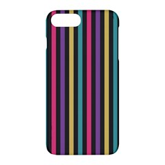Stripes Colorful Multi Colored Bright Stripes Wallpaper Background Pattern Apple Iphone 7 Plus Hardshell Case by Simbadda