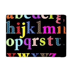 Alphabet Letters Colorful Polka Dots Letters In Lower Case Apple Ipad Mini Flip Case by Simbadda