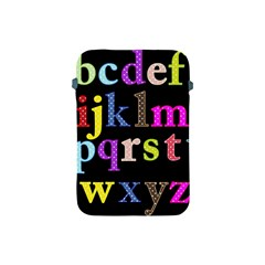 Alphabet Letters Colorful Polka Dots Letters In Lower Case Apple Ipad Mini Protective Soft Cases by Simbadda