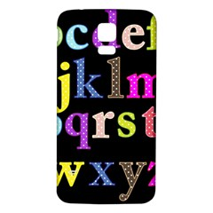 Alphabet Letters Colorful Polka Dots Letters In Lower Case Samsung Galaxy S5 Back Case (white) by Simbadda