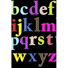 Alphabet Letters Colorful Polka Dots Letters In Lower Case 5 5  X 8 5  Notebooks by Simbadda