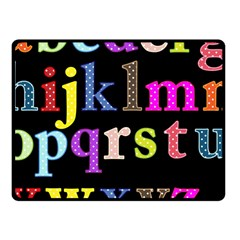 Alphabet Letters Colorful Polka Dots Letters In Lower Case Fleece Blanket (small) by Simbadda