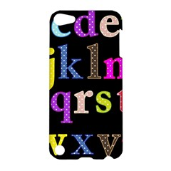 Alphabet Letters Colorful Polka Dots Letters In Lower Case Apple Ipod Touch 5 Hardshell Case by Simbadda