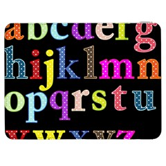 Alphabet Letters Colorful Polka Dots Letters In Lower Case Samsung Galaxy Tab 7  P1000 Flip Case by Simbadda