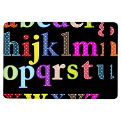 Alphabet Letters Colorful Polka Dots Letters In Lower Case Ipad Air Flip by Simbadda