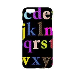 Alphabet Letters Colorful Polka Dots Letters In Lower Case Apple Iphone 6/6s Hardshell Case by Simbadda