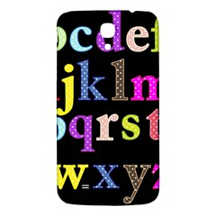 Alphabet Letters Colorful Polka Dots Letters In Lower Case Samsung Galaxy Mega I9200 Hardshell Back Case by Simbadda