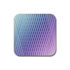 Abstract Lines Background Rubber Square Coaster (4 Pack)  by Simbadda