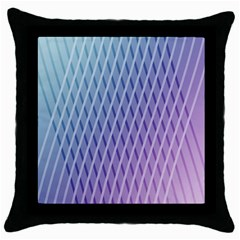 Abstract Lines Background Throw Pillow Case (black) by Simbadda