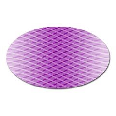 Abstract Lines Background Pattern Oval Magnet by Simbadda