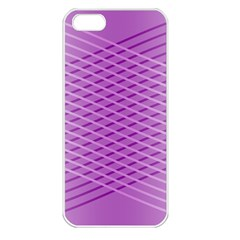 Abstract Lines Background Pattern Apple Iphone 5 Seamless Case (white)