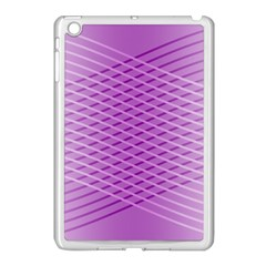 Abstract Lines Background Pattern Apple Ipad Mini Case (white) by Simbadda