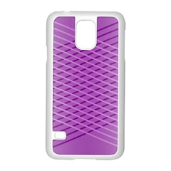 Abstract Lines Background Pattern Samsung Galaxy S5 Case (white) by Simbadda