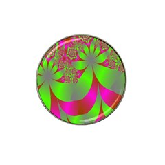 Green And Pink Fractal Hat Clip Ball Marker (10 Pack) by Simbadda