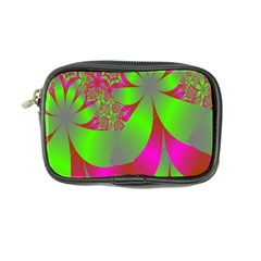 Green And Pink Fractal Coin Purse