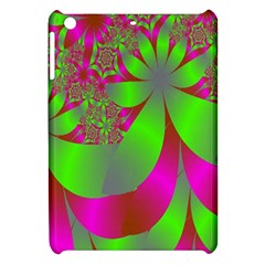 Green And Pink Fractal Apple Ipad Mini Hardshell Case by Simbadda