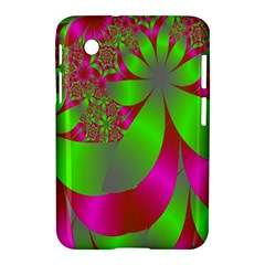 Green And Pink Fractal Samsung Galaxy Tab 2 (7 ) P3100 Hardshell Case  by Simbadda