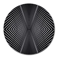 Abstract Of Shutter Lines Round Mousepads by Simbadda