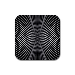 Abstract Of Shutter Lines Rubber Square Coaster (4 Pack)  by Simbadda