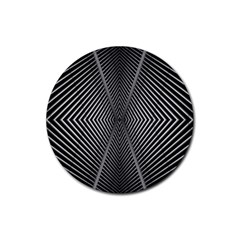 Abstract Of Shutter Lines Rubber Coaster (round)  by Simbadda