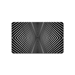 Abstract Of Shutter Lines Magnet (name Card) by Simbadda