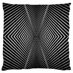 Abstract Of Shutter Lines Large Cushion Case (one Side) by Simbadda