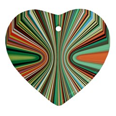 Colorful Spheric Background Ornament (heart) by Simbadda