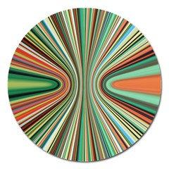 Colorful Spheric Background Magnet 5  (round)