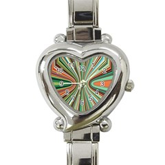 Colorful Spheric Background Heart Italian Charm Watch
